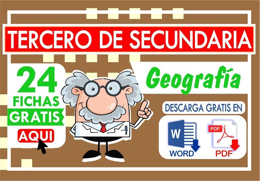 Actividades de Geografia para Tercero de Secundaria