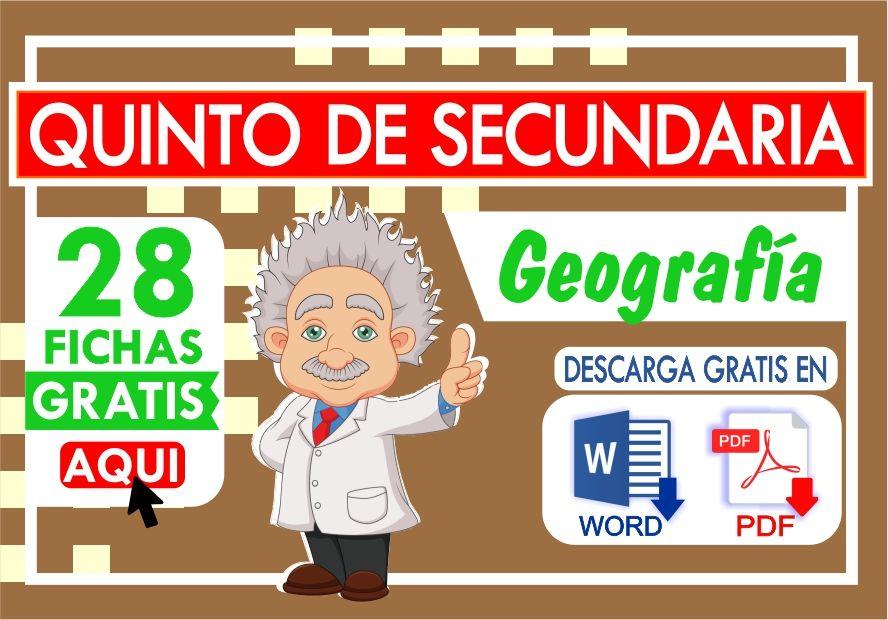 Separatas de Geografia para Quinto de Secundaria